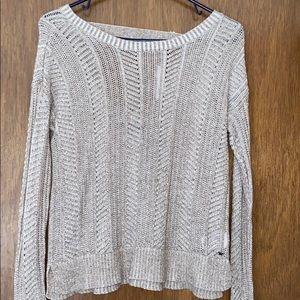 Gray Knitted A&E Sweater with open back
